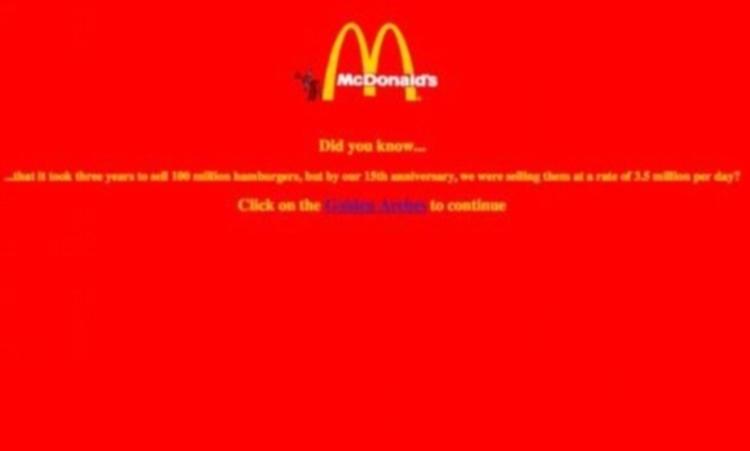 インターネット黎明期の1990年代の企業サイトはこんな感じだった