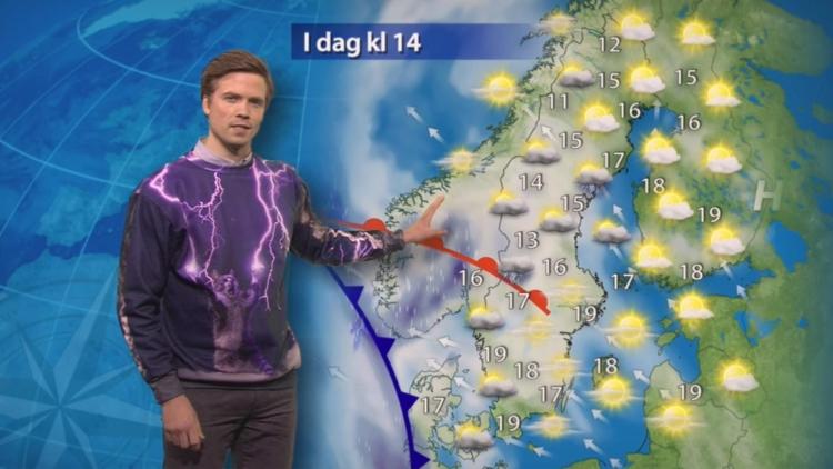 スウェーデンの天気予報士が着ているトレーナーが最高にイケていると話題に!