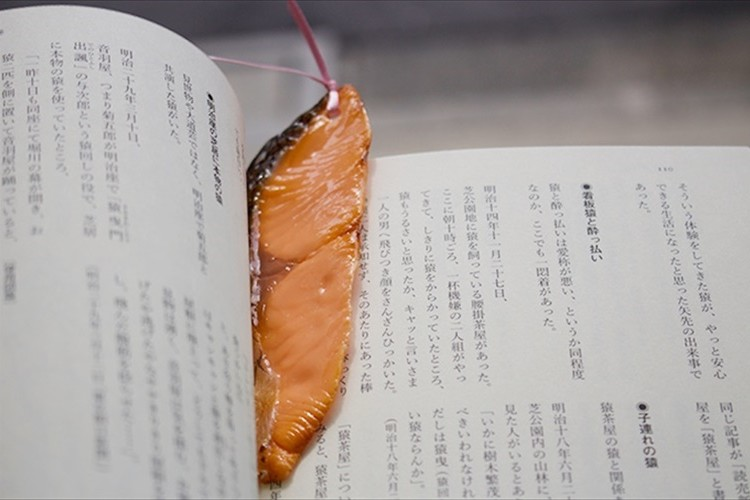 本に挟まる意外なモノ!?「食べものしおり」が可愛い!…意外とちゃんと挟まるらしい