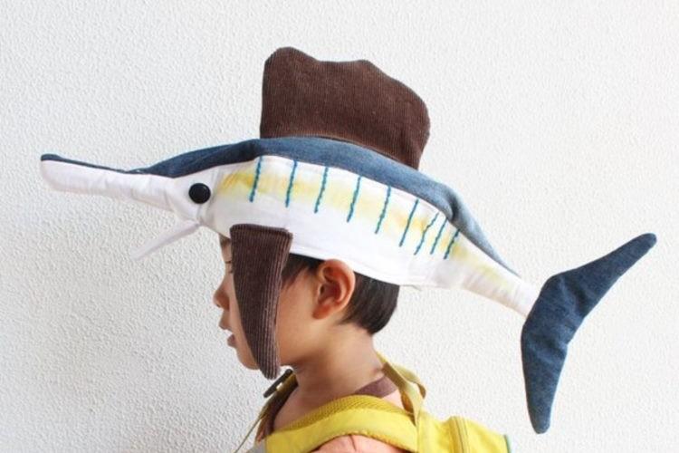 さかなクンのことが大好きな息子のために母が作ったバショウカジキの帽子が素敵