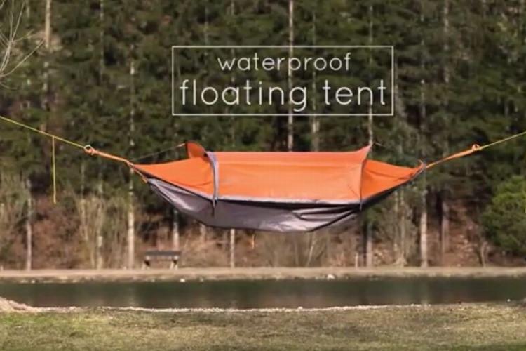 """ハンモック、テント、雨避けポンチョにもなる""""フライングテント""""が便利過ぎる"""