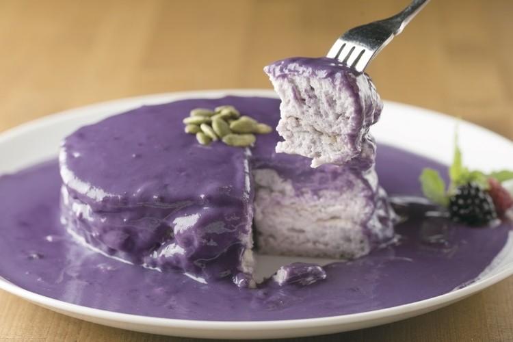 この紫色が意外と美味しい!ハワイで話題のウベパンケーキが名古屋で大人気!!