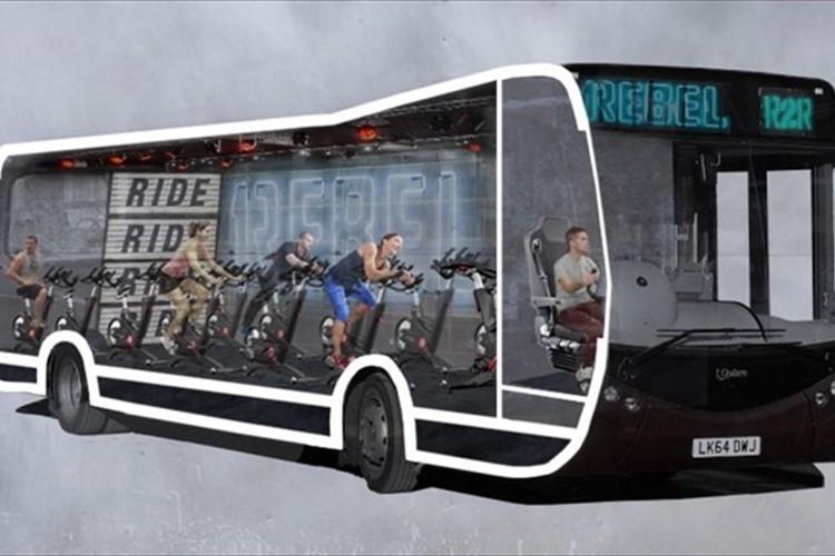 画期的! バス内にマシン設置で通勤中に運動「自転車乗ればいいじゃん」等の声も