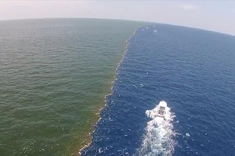 【動画】太平洋と大西洋は混ざらない?2つの水流が混ざらずにくっきりとコントラストに!