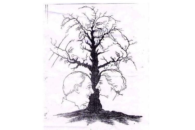 【観察力テスト】一本の木に人の顔が隠れています。あなたはいくつ見つけられましたか?