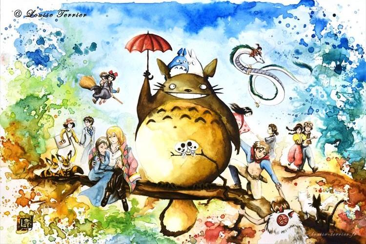 トトロとその仲間たちが勢揃い!フランス人アーティストが描くジブリの美しさに感動!!