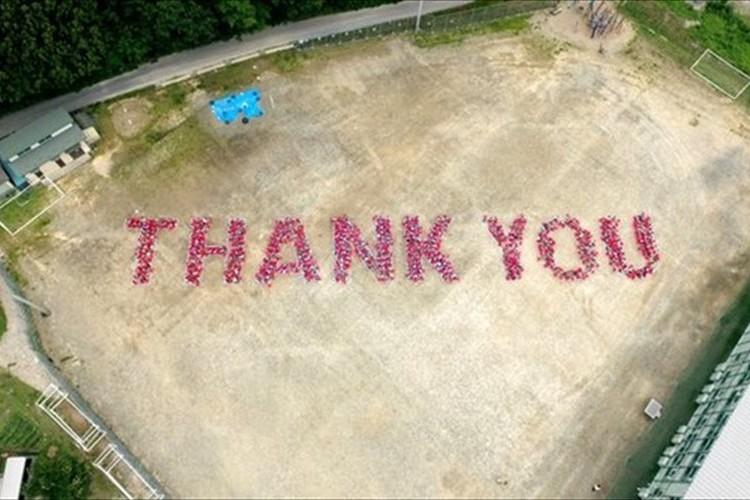 リオ五輪で披露へ! 岩手県大槌町の子供たちが復興支援に対する感謝の人文字!