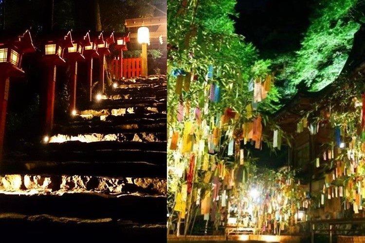 京情緒あふれる優美な夜…貴船神社の「七夕笹飾りライトアップ」が幻想的!