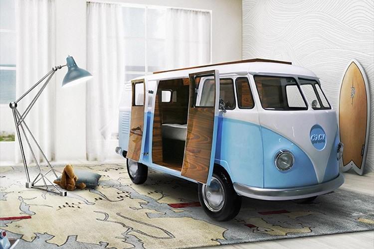 """自宅でキャンプ気分♪ """"ワーゲンバス""""のベッドに大人も子供もワクワクする!"""