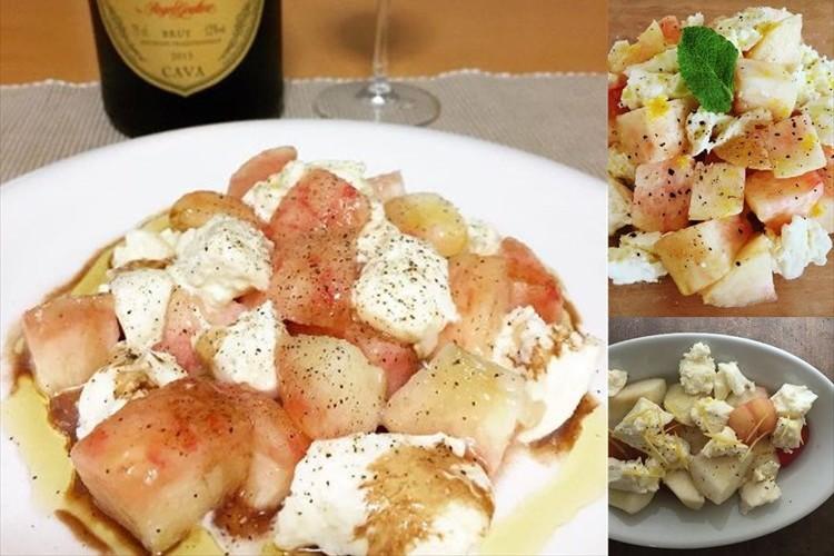超簡単にできて奇跡的な美味しさ! 「桃モッツァレラ」にハマる人が続出中!