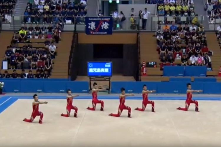 ライザップに三代目JSBまで…!鹿児島実業男子新体操部の演技が今年もやはり面白かった!!