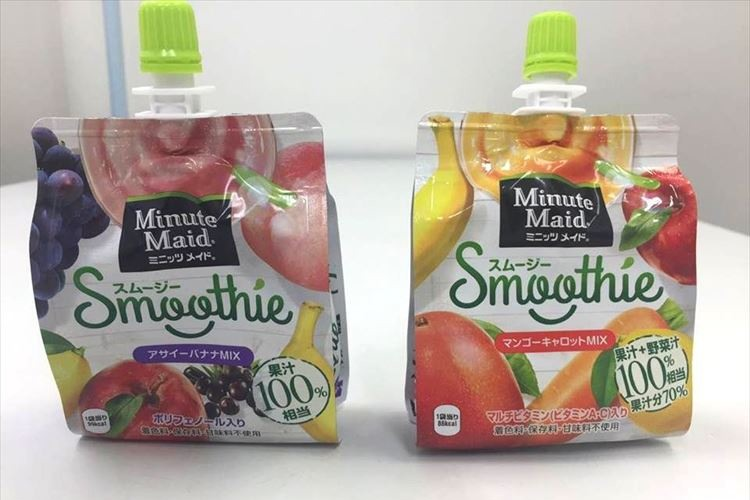 あのミニッツメイドからスムージーが新発売!2種類の味を実際に飲み比べてみた