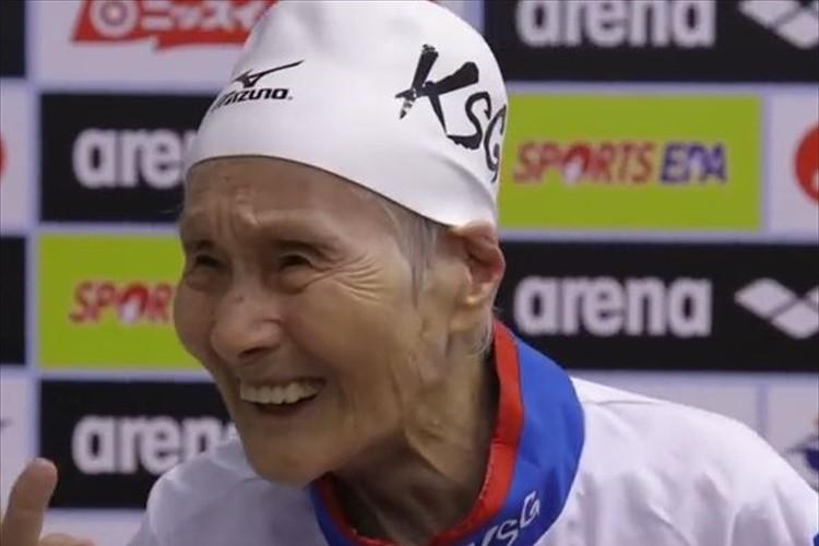 【動画】「105歳まで泳ぎたい」世界記録を更新し続ける102歳のスイマーの挑戦