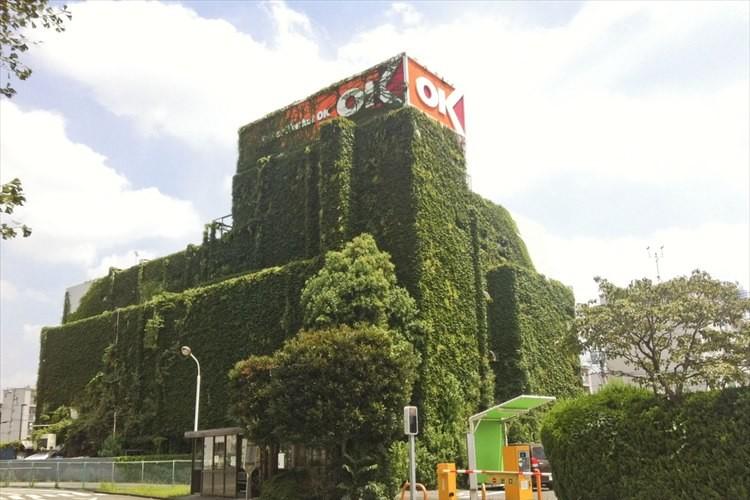 屋内は涼しそう!? 建物全体をツタに覆われたOKストアが秘境のようだと話題に!