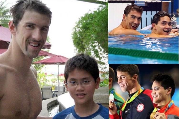 夢のような話…フェルプスに憧れていた少年が8年後に彼の隣で勝利し金メダル