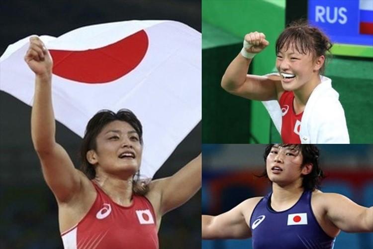 日本凄すぎる! レスリング女子が金! 金! 金! 三階級制覇 それも全て劇的逆転勝利!