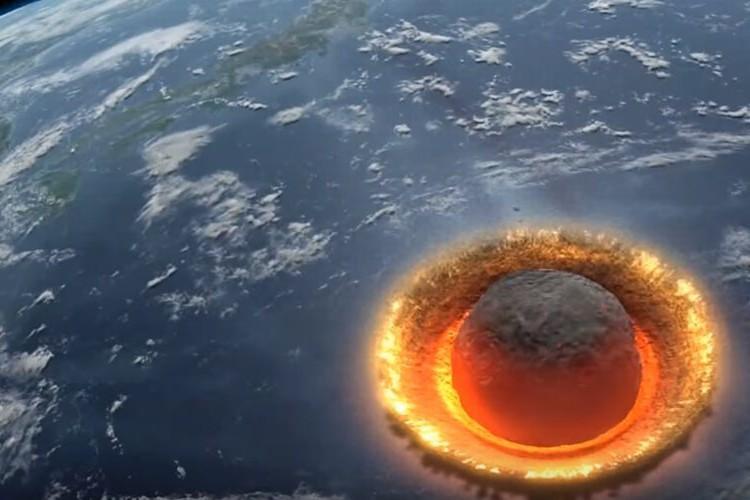「もしも直径500キロの小惑星が地球に落下したら...」凄まじいシミュレーショ ン映像がエヴァっぽい、更には3.11の予言説まで。