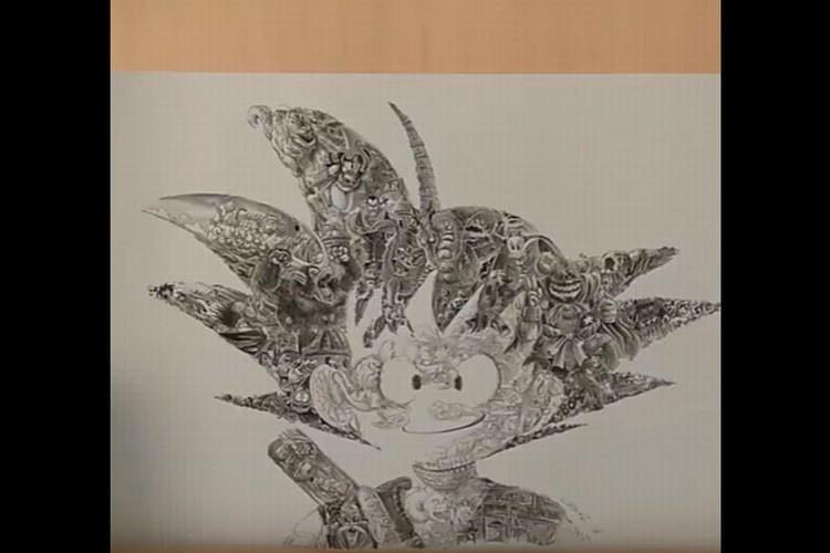 これはスゴい!孫悟空のイラストをよーく見てみるとドラゴンボールの名場面 が隠されていた!