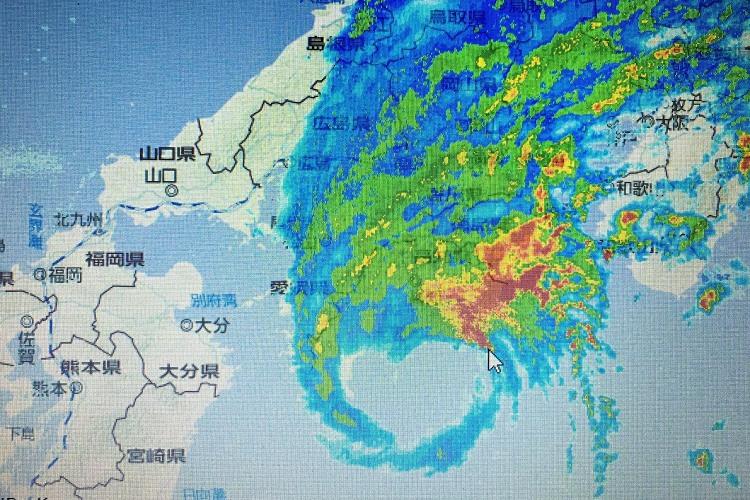 なんだ、また台風かよ…と思いきや、台風16号がめっちゃ可愛いかった