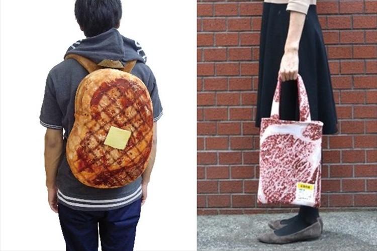 肉食アピール!? ボリューミーな肉リュックや霜降り感のあるバッグがリアル過ぎる!