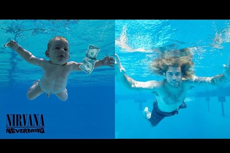 ニルヴァーナの名盤「Nevermind」の赤ちゃんが25歳になりジャケ写を再現して話題に!