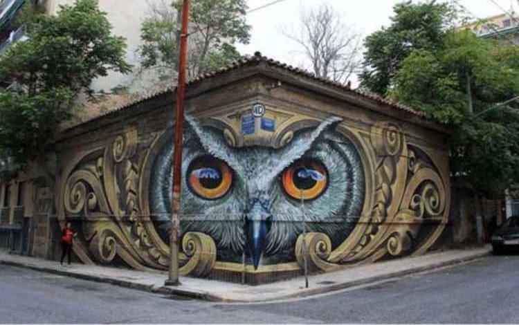 【ビフォーアフター】壁に描いたダイナミックなアートで劇的に街がで明るく
