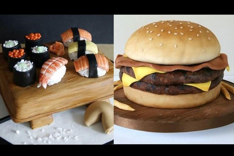 お寿司やハンバーガーじゃないの!? 色々なものをケーキで再現してしまう職人が話題に!