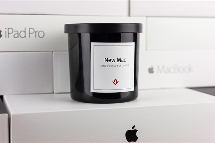 """ナイスな発想! """"新品のApple製品を開けた時の香り""""がキャンドルになって登場!"""