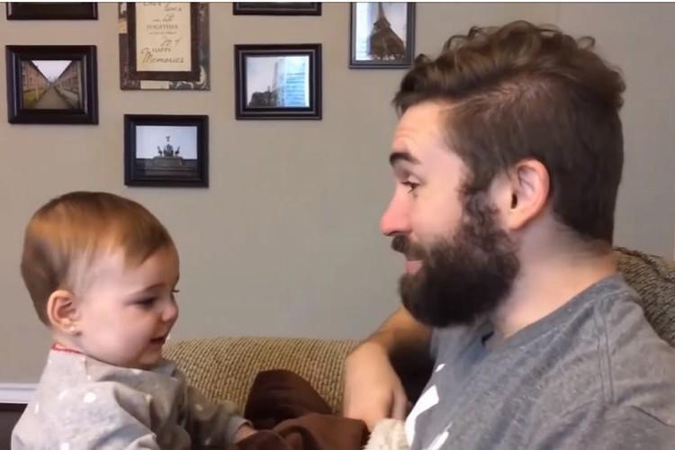 いないいないばあ~!パパのひげを剃ったら…赤ちゃんの反応が「え、だれ?」だった