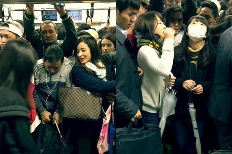 これでもか!というほどに詰め込む東京の満員電車がヤバい!