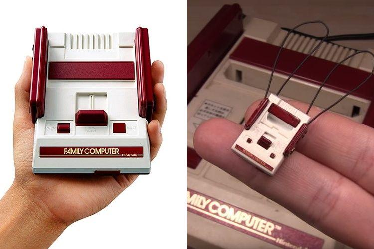 手の平ならぬ指先サイズ!?ミニファミコンより断然小さいファミコンのミニチュアが凄い!