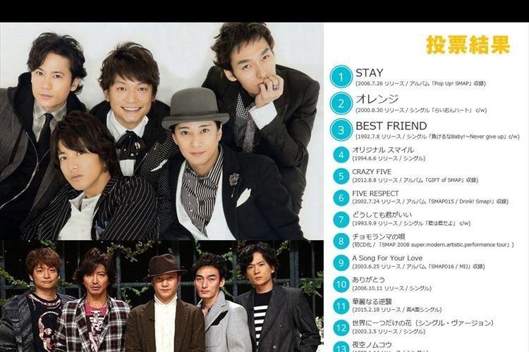 """SMAP25周年ベスト収録50曲の投票結果が""""2時5分""""に発表! ビクターの粋な演出にファン感激"""