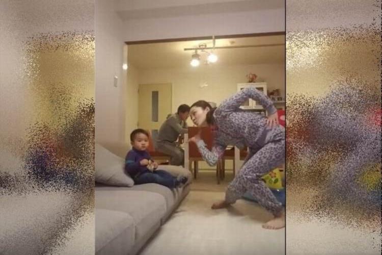 【動画】陽気すぎるダンシングママ♪まさかの夫も参戦でおもしろ夫婦の完成!