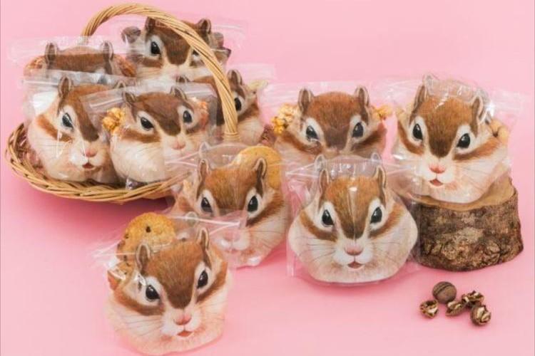 ほっぺをお菓子でいっぱいに…詰めれば詰めるほど頬が膨らむシマリスの保存袋がキャワイイ