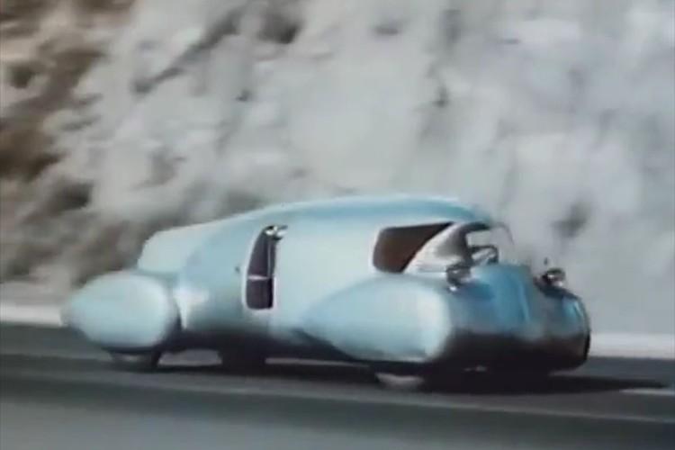 """【動画】1948年に開発された""""未来の車""""のフォルムがSF映画に出てきそうな雰囲気"""