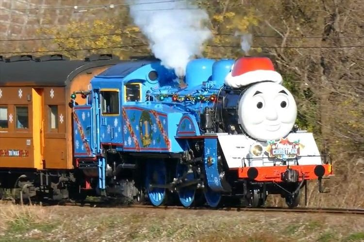 トーマスとジェームスがサンタ仕様に! クリスマス特別運転開始…静岡・大井川鐵道