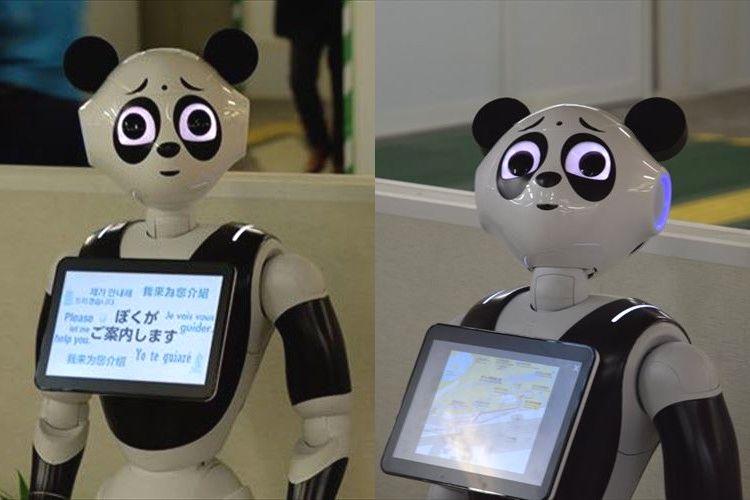 なんでそんなに困り顔なの?上野駅にいる「パンダPepper」が悲壮感漂いすぎてじわる