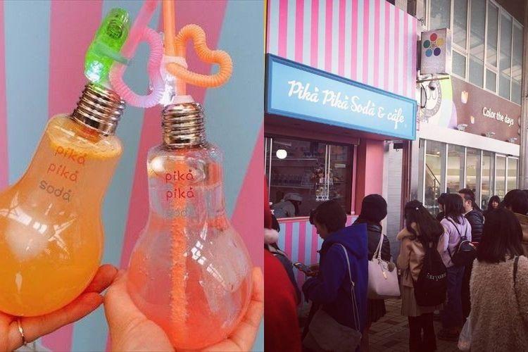 電球の中にドリンクが!名古屋にグランドオープンした「ピカピカソーダ」が話題沸騰中!