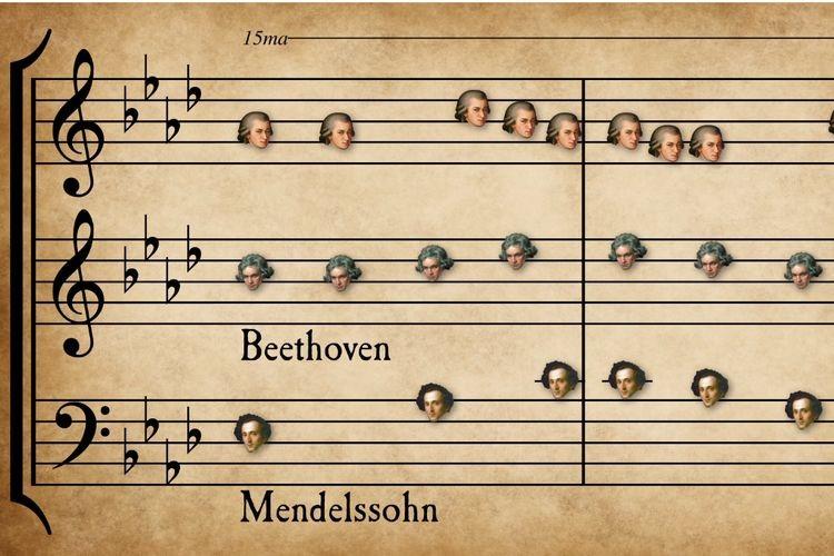 まさに夢の共演!クラシックの57もの名曲をマッシュアップさせてみたら…面白い結果に!