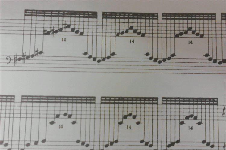 眺めていたらおばあちゃんちを思い出した!ハープの楽譜があの懐かしいものに似ていると話題に