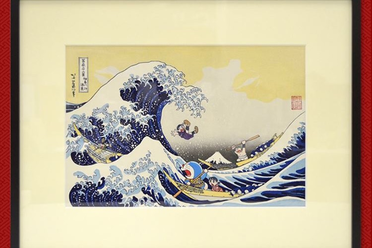 ドラえもんが葛飾北斎とコラボ!技術を継承する職人さんによる浮世絵が発売