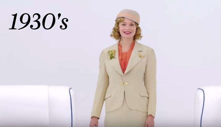 昔はシックなスーツだった!?過去100年のキャビンアテンドの制服の変化を再現した映像が面白い!