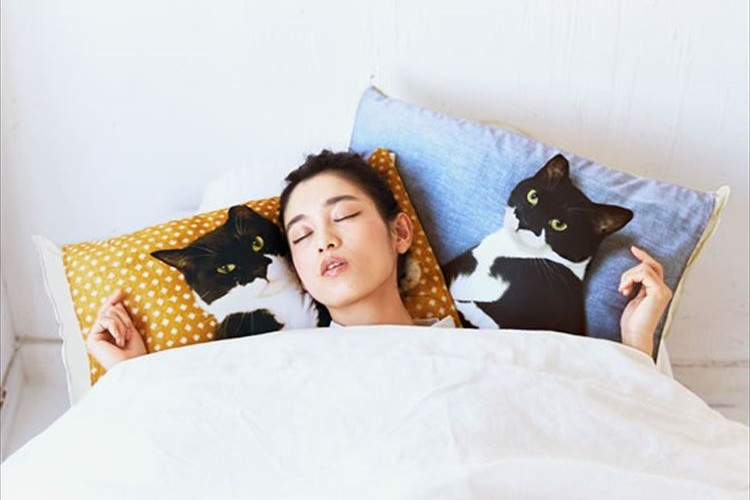 ニャンコ好きは必見!猫と添い寝する感覚で寝られる枕カバーが可愛すぎ!