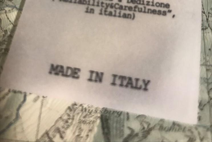 イタリア製の洋服のタグを見たらシャレオツなことが書かれていた