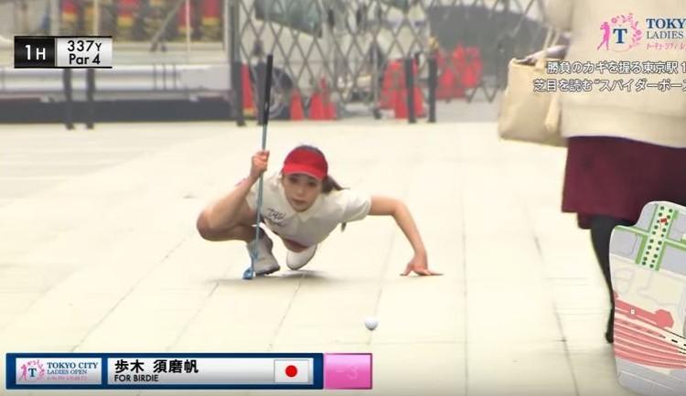 【動画】東京駅でゴルフ?美女ゴルファーたちがどうしてこんな場所でやってるの?
