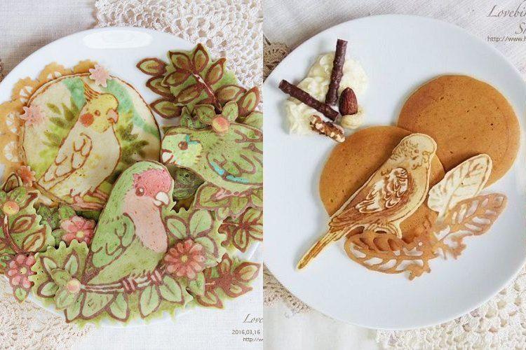 もはや芸術の域…小鳥をモチーフにした『パンケーキアート』が凄すぎる!