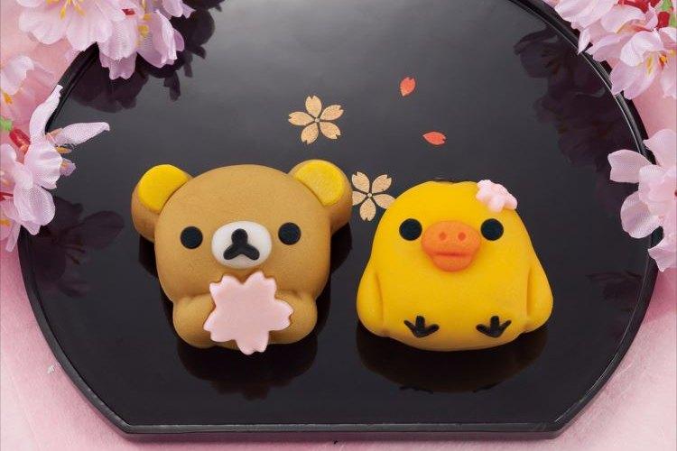 ぐうカワ…♡桜を持ったリラックマの和菓子が可愛すぎる【数量限定】