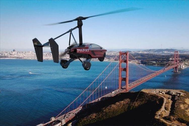 """世界初! ついに""""空飛ぶクルマ""""が開発されて話題に! 思い描いていた未来がそこまできたか!?"""