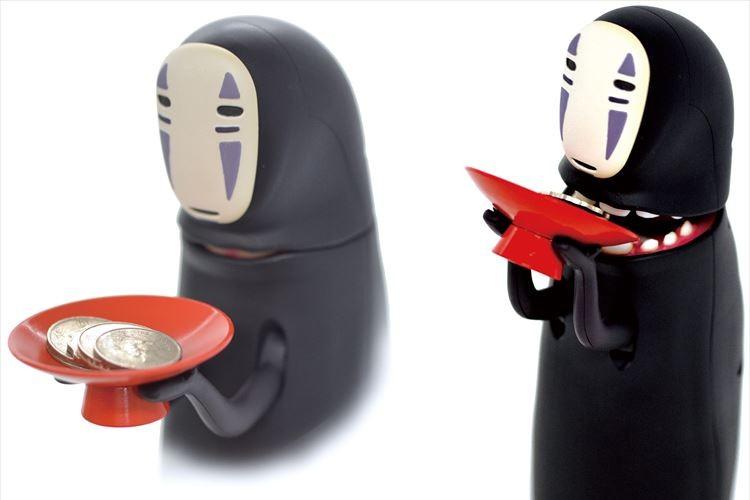 「千と千尋の神隠し」のカオナシがむしゃむしゃとコインを食べるシュールな貯金箱が登場!