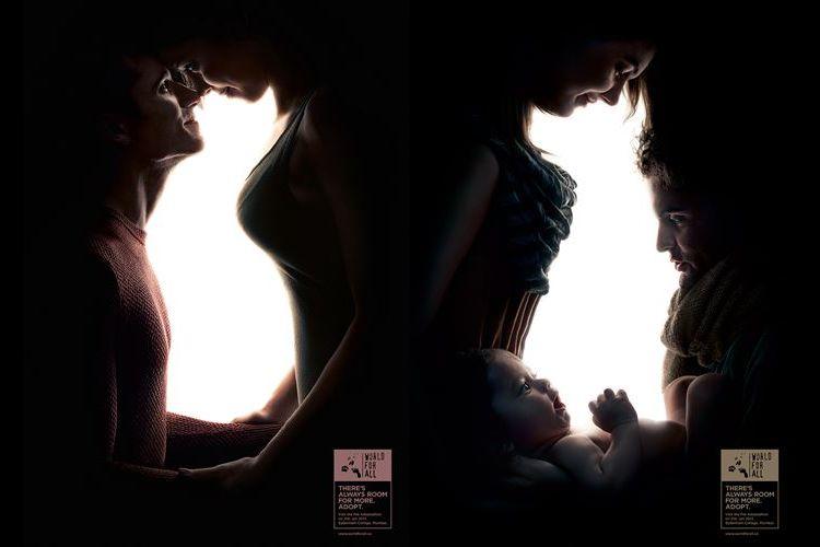 愛し合うカップルの間には動物の姿が…ペットの里親募集のポスターが素敵すぎる